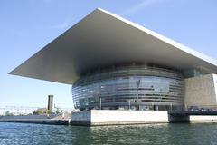Exterior view to Copenhagen's contemporary opera house, Denmark Stock Photos
