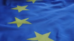 European Union flag panning 1080p HD footage - EU flag pan over 1920X1080 Ful Stock Footage