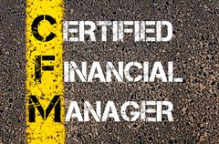Business Acronym CFM as– Certified Financial Manager - stock illustration