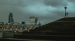 City of London view from the Bankside of London Stock Footage