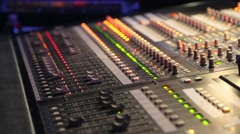 Close up of audio Mixer working Stock Footage