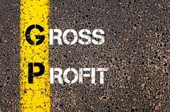 Business Acronym GP as – Gross Profit Stock Illustration