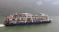 CHINA PASSENGER CRUISE SHIP YANGTZE RIVER Stock Footage