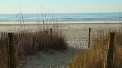 Fenced carolina beach Stock Footage