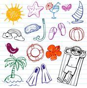 Summer holiday - stock illustration