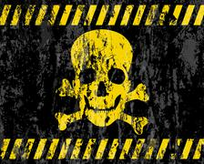 grunge jolly roger background - stock illustration