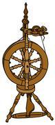 Spinning wheel - stock illustration