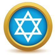 Gold Judaism icon Stock Illustration
