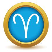 Stock Illustration of Gold Aries icon