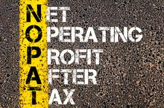 Business acronym written with paint over asphalt background - stock illustration