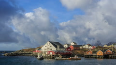 picturesque fishing villages of Hamnøy, Reine, Sørvågen, Moskenes, Å, - stock footage