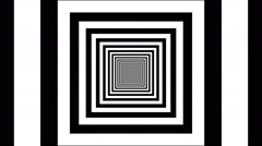Concentric dashing squares - stock footage
