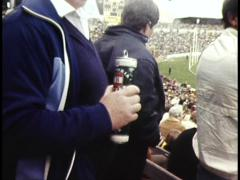 Stock Video Footage of ALCOHOL CONSUMPTION / BAN AT MELBOURNE FOOTBALL GAME