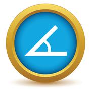 Gold sign of the angle icon - stock illustration