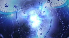 Time Travel Tunnel, Background, Loop - stock footage