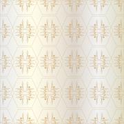 Pattern of hexagons (Golden) Stock Illustration