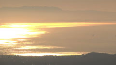 Santa Barbara water front sunrise Stock Footage