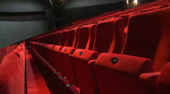 Empty red theater seats Stock Footage
