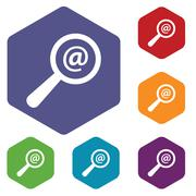 Stock Illustration of Search mail rhombus icons