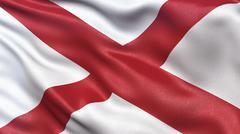 US state flag of Alabama Stock Illustration