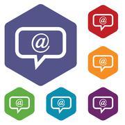 Mail rhombus icons Stock Illustration