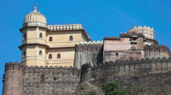 Kumbhalgarh Fort is a Mewar fortress Stock Footage