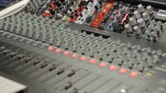 Digital Audio Mixer Stock Footage