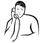 Business Man Calling - stock illustration