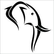 Elephant head - stock illustration