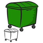 Garbage Bin - stock illustration