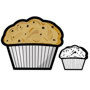 Muffin Stock Illustration