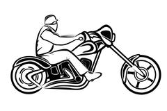 Rider on a chopper Stock Illustration