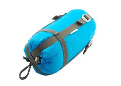 Sleeping bag packed Stock Photos