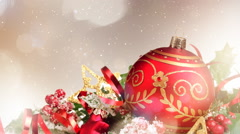 Christmas Backgrounds 01 - stock footage