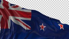 Flag of New Zealand Stock Footage