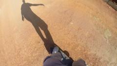 Gopro Man on a Skateboard 3 Stock Footage