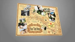 Adventure Photo Map Board for AE - stock after effects