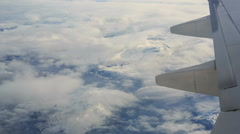 View from airplane Stock Footage