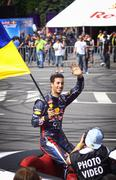 Driver Daniel Ricciardo of Red Bull Racing Team - stock photo