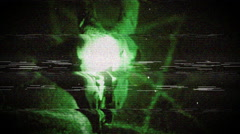 Evil nightvision ritual Stock Footage