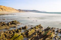 Stock Photo of Daytime Long Exposure Of Santa Marianita Beach Central Ecuadorian Coast