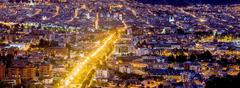 Cuenca Ecuador Night Time Panorama - stock photo