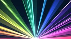 Rotating Light Beams Animation - Loop Rainbow Stock Footage