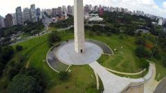Obelisk of São Paulo in Brazil Stock Footage