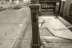 NEW YORK - MAY 23, 2013: Subway station entrance. The NYC Subway is one of th Kuvituskuvat