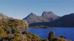 Cradle mountain and dove lake Stock Footage
