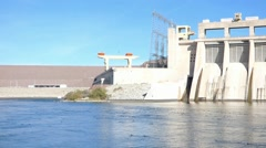 Davis Dam Colorado River Laughlin Bullhead City Stock Footage
