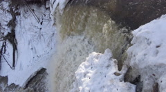 Winter Waterfalls 2015/ 4k nature footage Stock Footage
