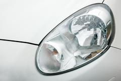 Stock Photo of detailed of car headlights