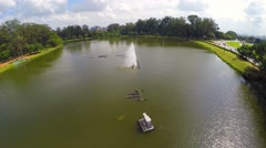 Flying around the Ibirapuera Park, Sao Paulo, Brazil Stock Footage